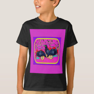 Baby Crows Whimsy purple by Sharles T-Shirt