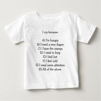 Baby crying man UAL Baby T-Shirt
