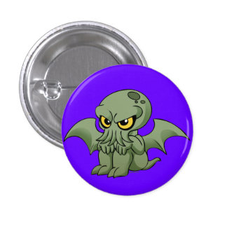 Baby Cthulhu is not amused Pinback Button