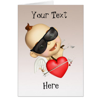 Baby Cupid with Sunglasses Card