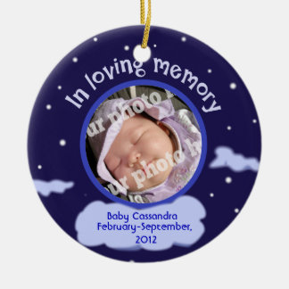 Baby Custom Photo Personalized Memorial for Babies Ceramic Ornament