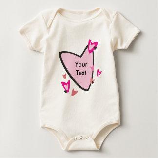 Baby Customizable Pink Heart Creeper