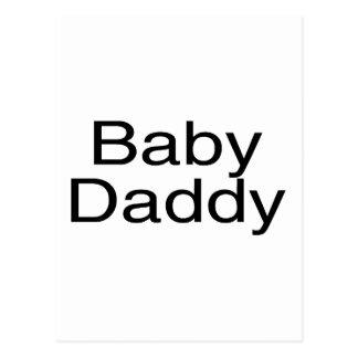 Baby Daddy Black Postcard