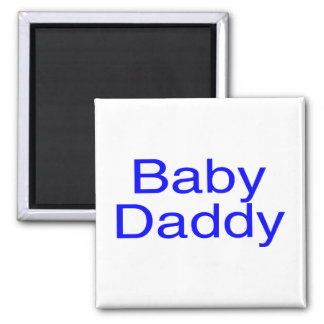 Baby Daddy Blue 2 Inch Square Magnet