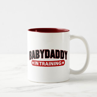 Baby Daddy In Training Two-Tone Coffee Mug