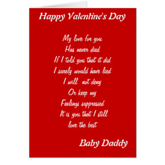 Baby Daddy Valentineu0026#39;s Day Greeting Cards