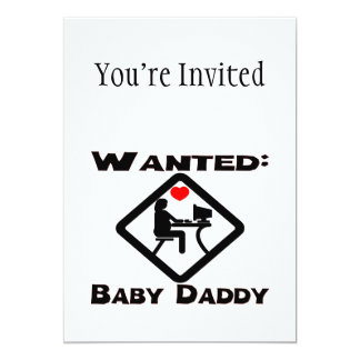 Baby Daddy Wanted Card