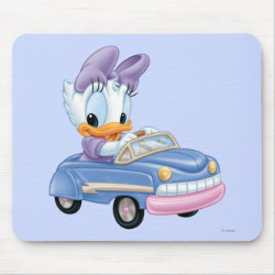 Mousepad with Baby Daisy Duck driving a car design