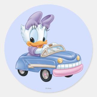 Baby Daisy Duck Round Sticker