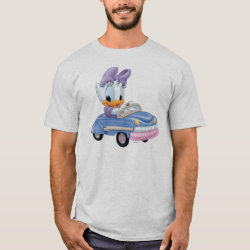 Men's Basic T-Shirt with Baby Daisy Duck driving a car design