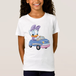 Girls' Fine Jersey T-Shirt with Baby Daisy Duck driving a car design