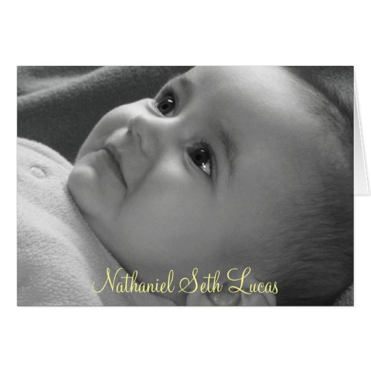 Baby Dedication Card
