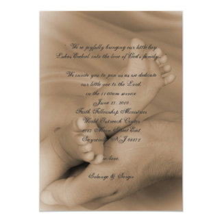 baby dedication card