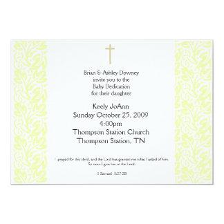 Baby Dedication Gender Neutral Baptism Invitation