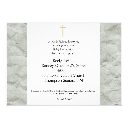 Gender Neutral Baptism Invitation