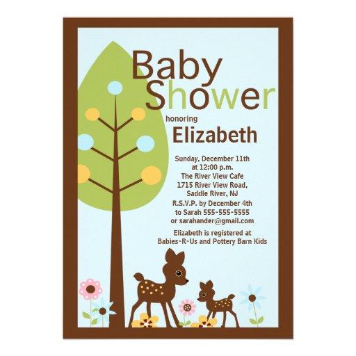 Baby Deer Boy Baby Shower Invitation