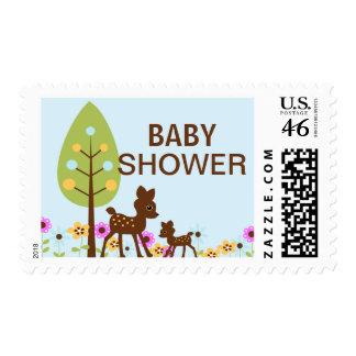 Baby Deer Boy Baby Shower  Postage