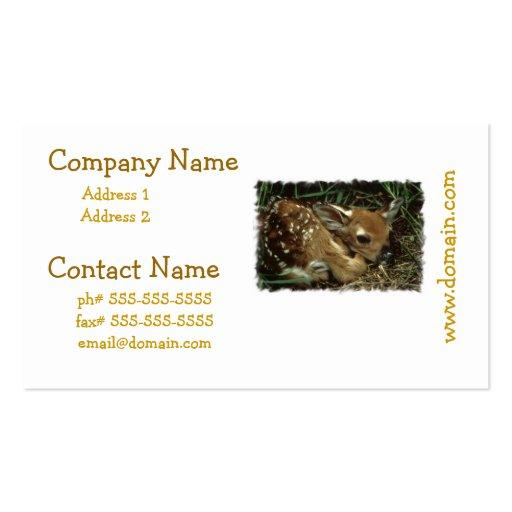 Baby Deer Business Cards