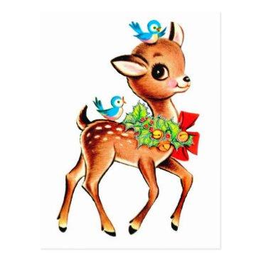 Toddler & Baby themed Baby Deer Christmas Postcard