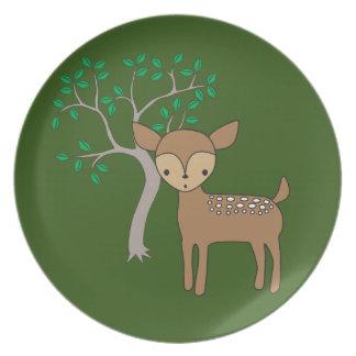Baby Deer Dinner Plate