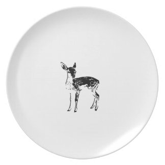 Baby Deer - Fawn Dinner Plates