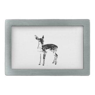 Baby Deer - Fawn Rectangular Belt Buckle