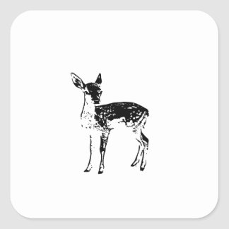 Baby Deer - Fawn Square Sticker