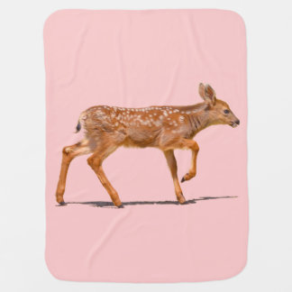 Baby Deer Fawn Walking - Photo Swaddle Blanket