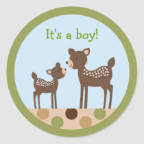 Baby Deer Forest Envelope Seals Stickers