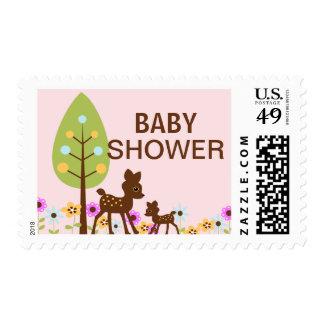 Baby Deer Girl Baby Shower  Postage
