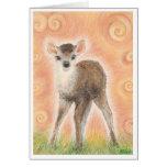 """""""Baby Deer"""" Greeting Card"""