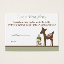 Baby Deer Guess How Many Cards