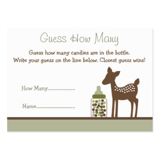 Baby Deer Guess How Many Cards Business Card Template