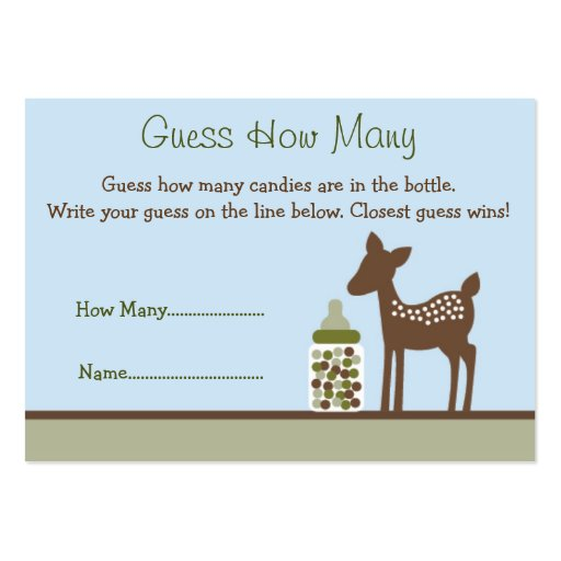 Baby Deer Guess How Many Cards Business Cards Pack