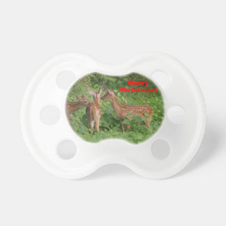 Baby Deer Hanging Out Christmas Pacifier