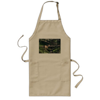 Baby Deer In The Forest Long Apron
