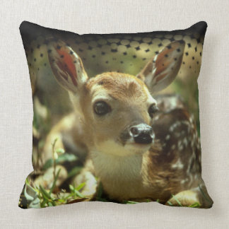 Baby Deer in the Wild Pillow