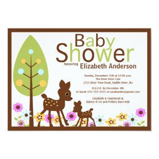 Baby Deer Neutral Baby Shower Invitation