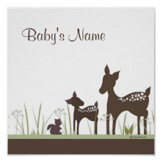 Baby Deer Personalized Poster