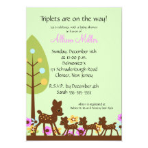 Triplet baby invitations announcements zazzle filmwisefo Choice Image
