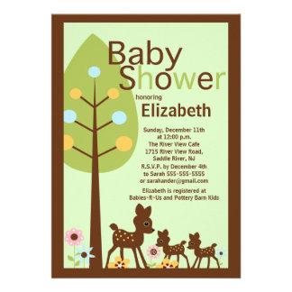 Baby Deer Twins Multiple Baby Shower Invitation