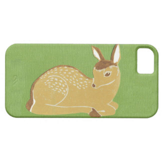 Baby Deer with Grass Green Background iPhone 5/5s iPhone 5 Covers