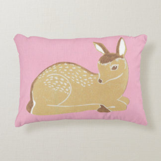 Baby Deer with Pink Accent Pillow