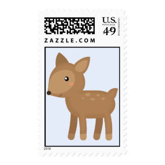 Baby deer with spots postage stamp