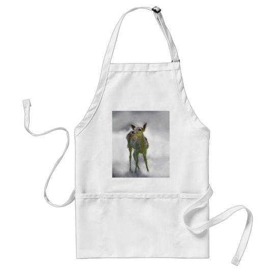 Baby deer's curiosity adult apron