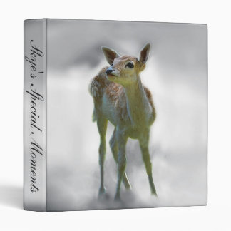 Baby deer's curiosity 3 ring binders