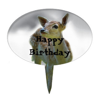 Baby deer's curiosity cake topper