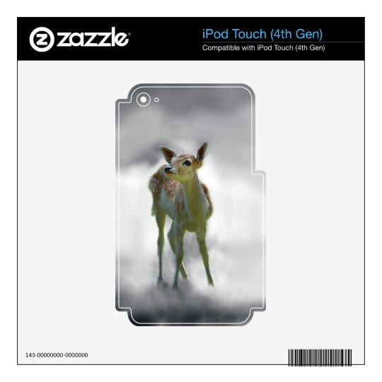 Baby deer's curiosity iPod touch 4G skin