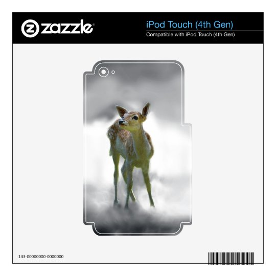 Baby deer's curiosity iPod touch 4G skin