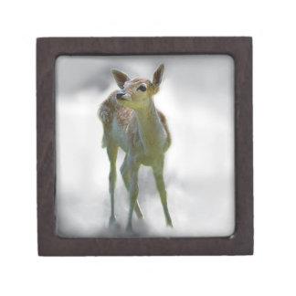 Baby deer's curiosity premium trinket box